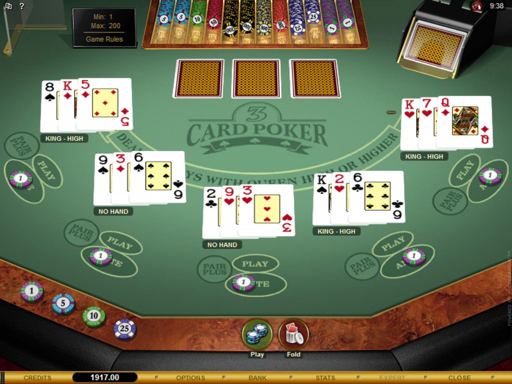online casino table games poker 4 of a kind