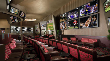 Aria Casino sports book lounge