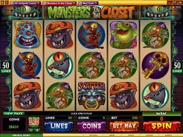 Monsters In The Closet Pokies Review Australia 2019