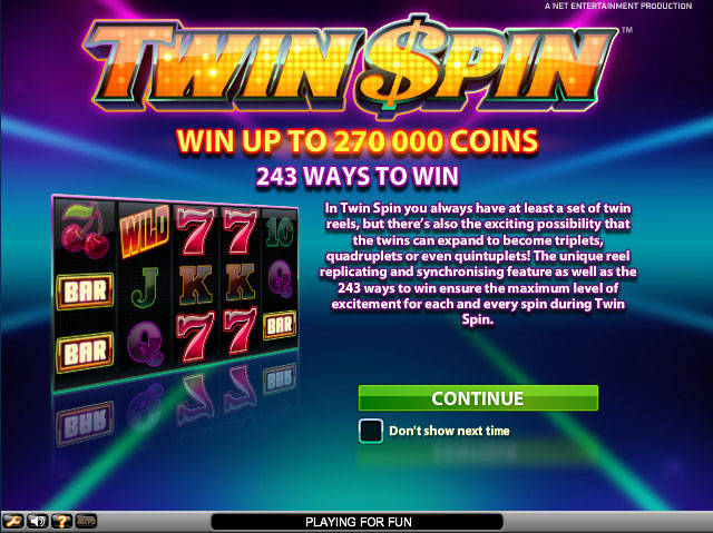 Play Twin Spin Slots at Casino.com New Zealand