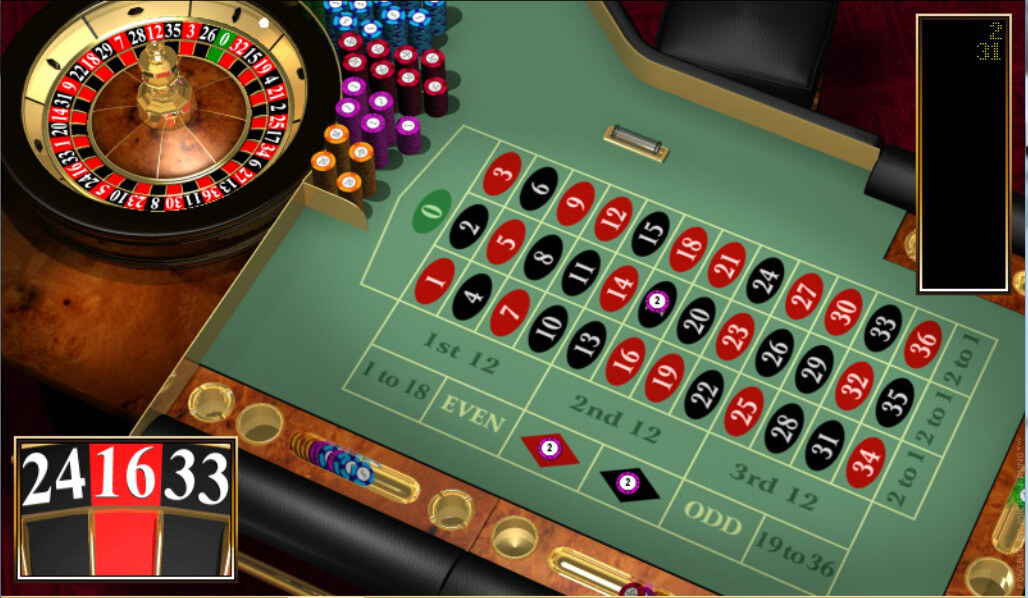 French roulette and european