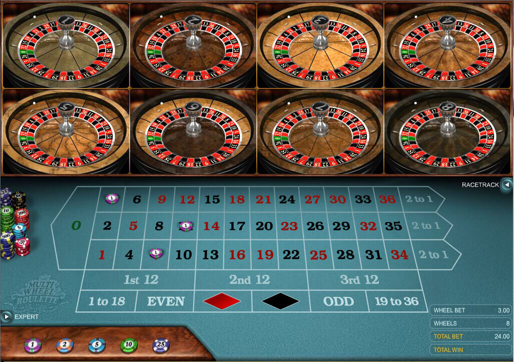 Play Multi Wheel Roulette Online at Casino.com